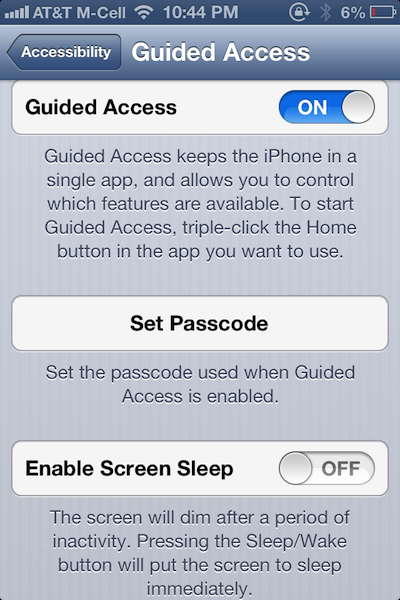 Guided-Access-Mode